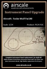 Focke-Wulf Fw 190 Instrument Panel Upgrade, 1/24 scale, Airscale AS24 FOC