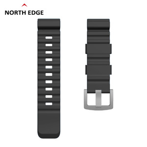 Replacement Silicone Sports Watch Wristband Strap for NORTH EDGE APACHE / GAVIA