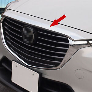 Fit for Mazda CX-3 2016-2020 ABS Chrome Front Hood Lid Upper Cover Trim Decor