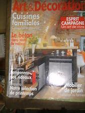 Art et Décoration N° 441 2008 Marie Antoinette Béton Mobilier de jardin Loft