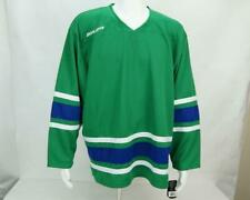 NWT Bauer Team Hockey Jersey Blank Green Size L