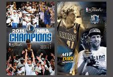 Dallas Mavericks 2011 NBA CHAMPS CELEBRATION and NOWITZKI MVP 2-POSTER Combo Set