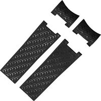 22mm Black Rubber Watch Strap Band Compatible With Ulysse Nardin Marine Watch
