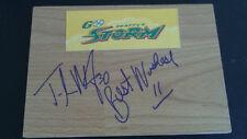 Tanisha Wright signed Seattle Storm basketball floor tile Wnba Free Shipping