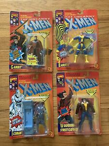 Lot of 4 ToyBiz The Uncanny X-Men Gambit Banshee Iceman Wolverine 1990s New