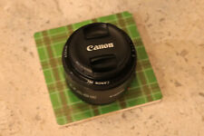 Canon EF 50mm F/1.8 II Autofocus Lens 1:1/8 clean fixed prime with cover caps.