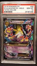2016 Pokemon XY Fates Collide 26 M Alakazam EX Holo PSA 10 Gem Mint Low Pop 15!
