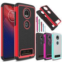 For Motorola Moto Z4 / Z3 / Z3 Play Shockproof Hybrid TPU Armor Phone Case Cover