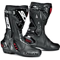 Sidi ST Air Motorcycle Motorbike Armoured Vented Track Sports Race Boots - Black