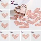 Choose New Floating charm 28mm Rose Gold Heart for glass Living Memory Locket
