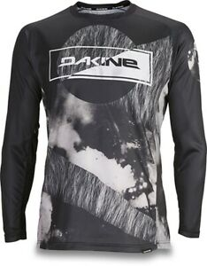 2019 Dakine Men's Thrillium L/S Cycling Bike Jersey Shirt Large Team Aggy Black