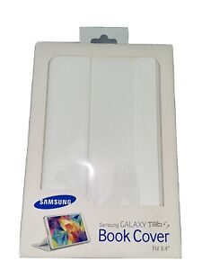 """Genuine Samsung Galaxy TAB S 8.4"""" Book Cover White + FREE Screen Protector"""