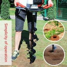 Panana 52cc Petrol Earth Auger Fence Post Hole Borer Ground Drill + 3 Bits