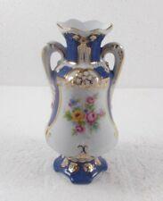 kleine Vase aus Porzellan, Streublumen Dekor, 14 cm, Czechoslovakia