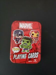 Funko Pop! Marvel Playing Cards Deck with Tin Hulk Iron Man Captain America MINT