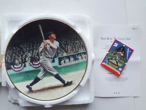 FIRST Ltd.Edit. BABE RUTH The Called Shot DELPHI PLATE complete COA & MINT CARD