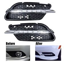 Pair LED Fog Lamp DRL Daytime Running Light For Benz W204 C Class C300 2008-2011