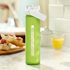 Starbucks Glass Water Bottle with Silicone Sleeve, Lime Green 16 fl oz