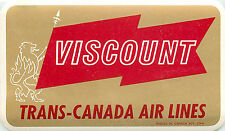 Viscount ~TRANS CANADA~ Great Old Airline Luggage Label, c. 1955