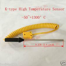 K-type High Temperature Sensor -50~+1300°C Thermocouple Probe Thermometer 9.2cm