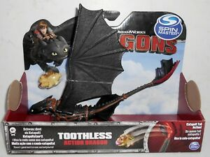 New Spin Master DreamWorks Dragons: TOOTHLESS Catapult Tail Action HTTYD 2015