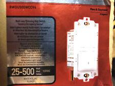 4  PK of LEGRAND PASS & SEYMOUR RW500UWCC4 25-500W DECORA OCCUPANCY SENSOR, WHT