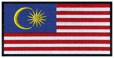 2 pcs MALAYSIAN Flag Embroidered Iron on Patches - MALAYSIA