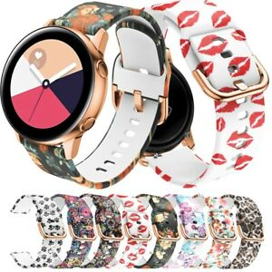 For Samsung Galaxy Watch Active 2 40mm 44mm Silicone Printing Women Watch Band