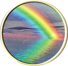 Serenity Peace Within The Storm Color Rainbow Sobriety Medallion AA NA Chip
