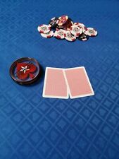 More details for poker table cloth suited blue speed cloth for professional table 150cm x 100cm