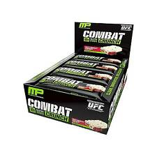 MusclePharm Combat Crunch Bars 12x20g All Flavours Fast Delivery White Chocolate Raspberry