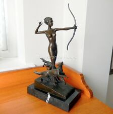 Genuine Bronze - Diana the Huntress Sculpture on Marble Base *REDUCED*