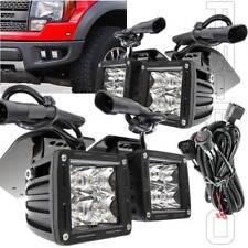 Fit 2011-2014 Ford Raptor Bracket Adjustable 4x Front Bumper LED Fog Lights Kit