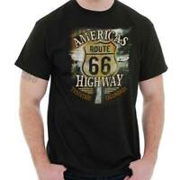 Route 66 Truck Driver Gifts Semi Trucking Womens or Mens Crewneck T Shirt Tee