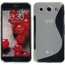 Silicone Case for LG Optimus G Pro S-Style transparent + protective foils