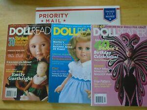 Doll Reader Magazines Lot of 3,  Nov 1998, February 1999, August 1999