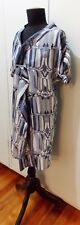 Immaculate Size 1 Luxe Grey & White Silk Women's Dress- 49cm Bust