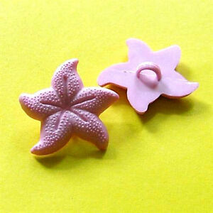 15 Large Sea Star Craft Novelty Sewing Buttons Dress up Pink K715