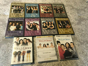 WILL & GRACE-COMPLETE SERIES-SEASON 1-8-W/FINALE---PLUS--REVIVAL 1 & 2 DVD--NEW