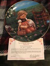 "Mj Hummel Gentle Friends Collectors Plate ""Favorite Pet"" with Box"