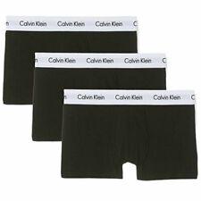 6 Pairs X Calvin Klein Mens Ck Low Rise Trunk Boxer Underwear Black 001