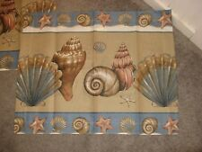 "Nwot Seashell Full Size Bed Skirt, 100% Cotton, 14"" Drop & 2 Matching Shams"