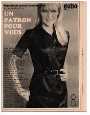 ▬► Patron Couture Supplément Écho de la Mode Robe polo Taille 40 à 44 N°7 1969