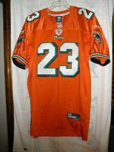 Reebok Ronnie Brown #23 Miami Dolphins Rare Orange Jersey, Men's Size 50 /XL NWT