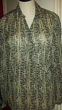 Ralph Lauren Animal Print Silk Wrap Top Blouse size L