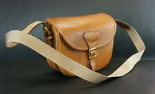 Luxury Solid Tan Leather Handmade Cartridge Bag