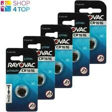 5 RAYOVAC CR1616 LITHIUM BATTERIES 3V CELL COIN BUTTON EXP 2025 SWITZERLAND NEW