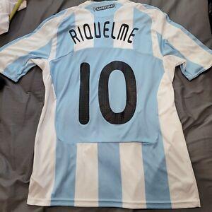 Argentina Adidas 2008 2009 Home Jersey Size Large Original Juan Roman Riquelme