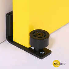 Adjustable Floor Guide For Sliding Barn Door Black Wall Guide With Screws