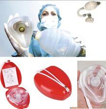 CPR Mask First Aid Resuscitation Face Oral Nasal Barrier Mask & Valves for Bag